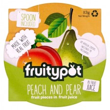 Fruity Pot Peach and Pear in Juice 113g