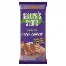 Natures Store Gluten Free Milk Chocolate Rice Cakes 100g