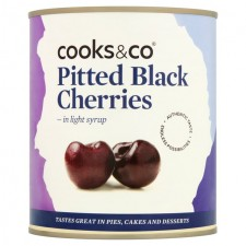 Cooks and Co Pitted Black Cherries 850g