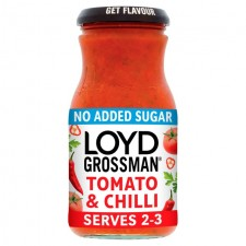 Loyd Grossman No Added Sugar Tomato and Chilli Pasta Sauce 350g