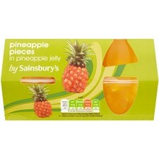 Sainsburys Pineapple Pieces in Pineapple Jelly 4 x 120g