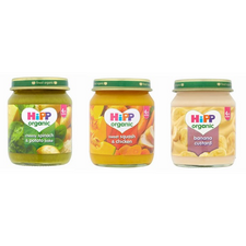 Hipp Organic Baby Food 4-6 Month 24 Jar Assortment Including Meat