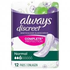 Always Discreet Incontinence Pads Normal 12 per pack