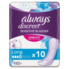 Always Discreet Incontinence Pads Long 10 Pack