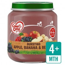 Cow and Gate Stage Apple Banana and Berries 125g