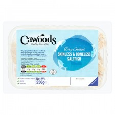 Cawoods Dry Salted Skinless And Boneless Saltfish 250G