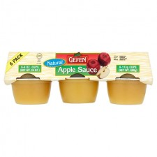 Gefen Natural Apple Sauce Mini Cups 6 x 113g