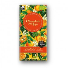 Chocolate and Love Organic 65% Dark Chocolate with Orange 80g