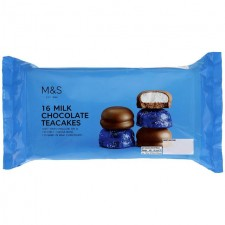 Marks and Spencer Milk Chocolate 16 Teacakes 280g.
