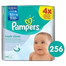 Pampers Fresh Clean Baby Wipes 4 x 64