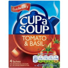Batchelors Cup A Soup Rich and Creamy Tomato and Basil 4 sachets