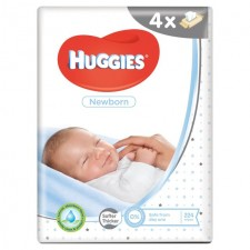 Huggies Newborn Baby Wipes 4 x 56 per pack