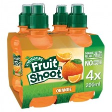 Robinsons Fruit Shoot No Added Sugar Orange 4 x 200ml