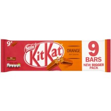 Nestle Kit Kat 2 Finger Orange 9 Pack