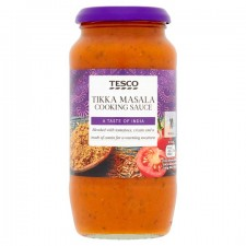 Tesco Tikka Masala Cooking Sauce 500g jar