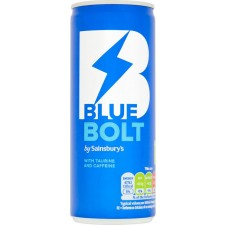 Sainsburys Blue Bolt Energy Drink 250ml Can