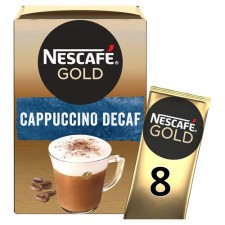 Nescafe Gold Decaffeinated Cappuccino 8 Sachets