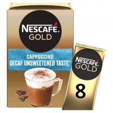 Nescafe Gold Unsweetened Decaffeinated Cappuccino 8 Sachets