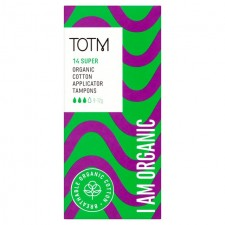 TOTM Organic Cotton Applicator Tampons Super 14 per pack
