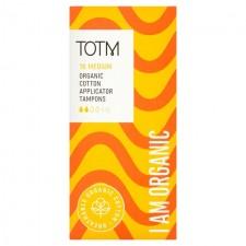 TOTM Organic Cotton Applicator Tampons Medium 16 per pack