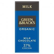Green and Blacks Organic 37% Milk Chocolate 90g