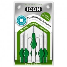 Icon Antibacterial Interdental Brushes 0.8mm 6 per pack