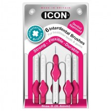 Icon Antibacterial Interdental Brushes 0.4mm 6 per pack