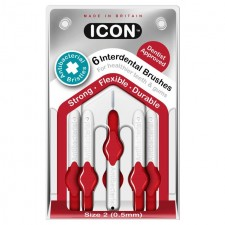 Icon Antibacterial Interdental Brushes 0.5mm 6 per pack