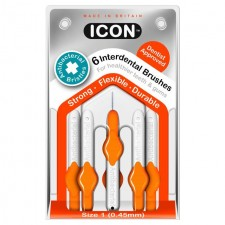 Icon Antibacterial Interdental Brushes 0.45mm 6 per pack