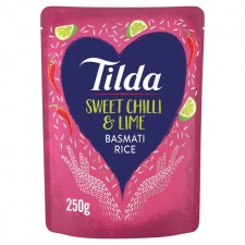 Tilda Steamed Sweet Chilli And Lime Basmati Rice 250g