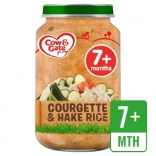 Cow And Gate 7 Months Courgette and Hake Rice Jar 200g