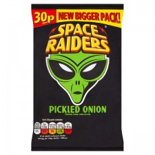 Space Raiders Pickled Onion Flavour Cosmic Corn Snacks 36 x 25g