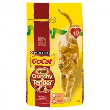 Go-Cat Crunchy and Tender Cat Food Beef 1.5kg