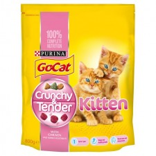 Go-Cat Crunchy and Tender Kitten Food Chicken 800g