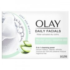 Olay Daily Facials 5 in 1 Dry Cloths Sensitive Skin 30 pack