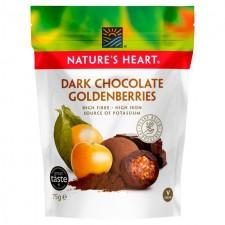 Natures Heart Dark Chocolate Goldenberries 75g