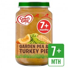 Cow And Gate 7 Months Pea and Turkey Pie Jar 200g