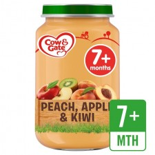 Cow And Gate 7 Months Peach Apple and Kiwi Jar 200g