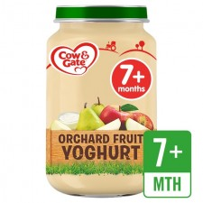 Cow And Gate 7 Months Orchard Fruit Yoghurt Jar 200g