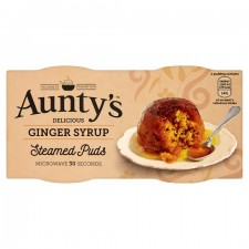 Auntys Ginger Syrup Steamed Puddings 2x95g