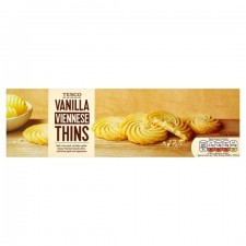 Tesco Vanilla Viennese Thins 125G