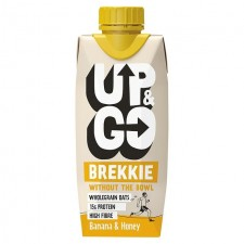 Up and Go Banana and Honey Breakfast Drink with Oats 330ml