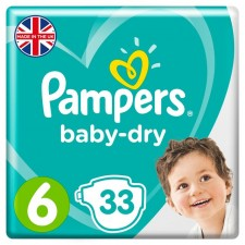 Pampers Baby Dry Nappies Size 6 x 33
