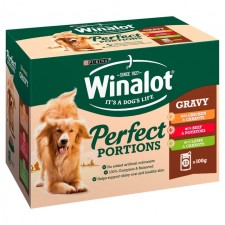 Winalot Perfect Portions Chicken Beef and Lamb Pouch 12 x 100g