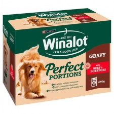 Winalot Perfect Portions Beef and Potatoes Pouch 12 x 100g