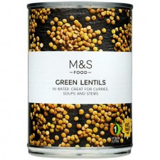 Marks and Spencer Green Lentils in Water 400g