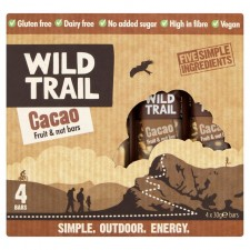 Wild Trail Cacao Fruit and Nut Bar 4 x 30g