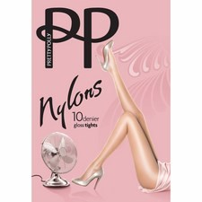 Pretty Polly 10 Denier Gloss Tights Natural Sherry Large
