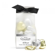 Hotel Chocolat Foiled Hearts Ribbon Bag 90g x 3 (OR)