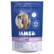 Iams Adult Dry Cat Food Multicat Chicken And Salmon 800g